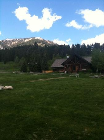 Lone Mountain Guest Ranch: the view from our cabin