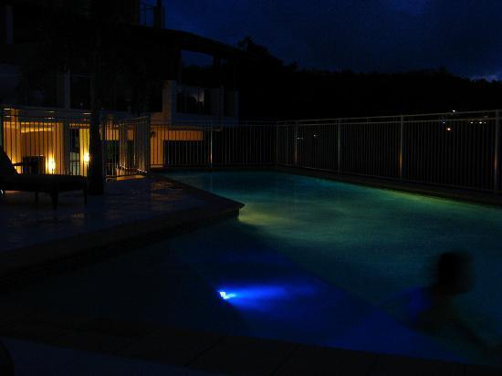 Whitsunday Reflections: Pool at night
