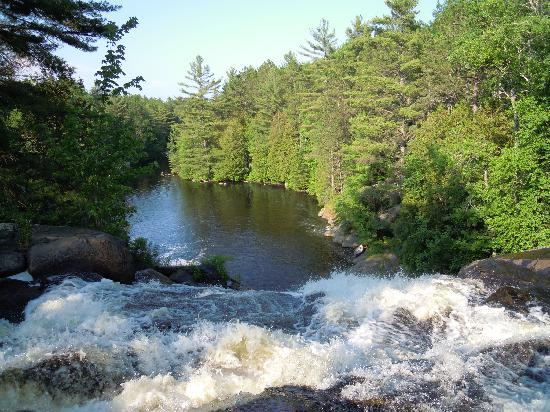 Red Deer Log Cabins and Campground: More fun at the falls