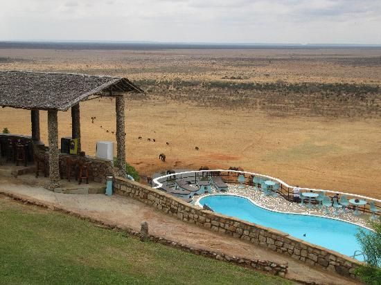 Voi Safari Lodge: View from our room