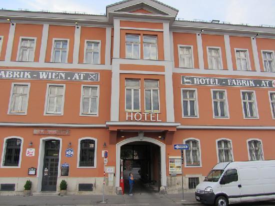 Hotel Fabrik Front - A Bit Closer