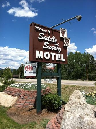 Saddle & Surrey Motel: Motel sign right on route 7