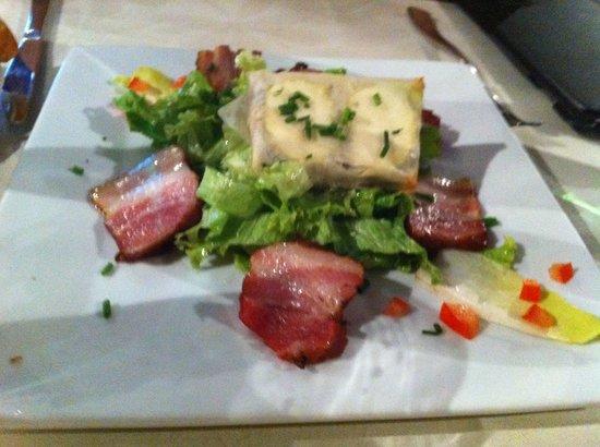 Warm Farm Goats Cheese & Rillons Salad