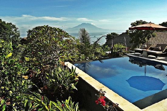 Penyon Guest House: Pool + varanda view