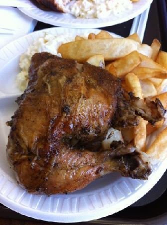 El Pollo Rico: huge quarter chicken
