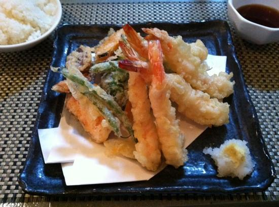 Chevy Chase, MD: shrimp and vegetable tempura
