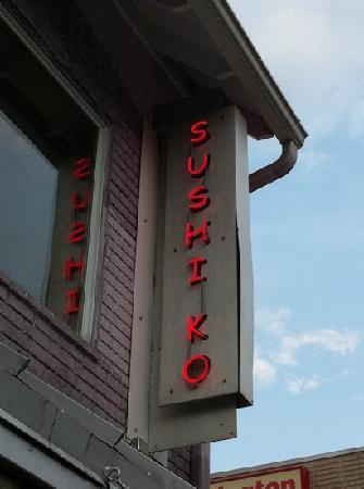 Chevy Chase, MD: Sign on second floor of Sushi Ko