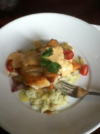 Palm Valley Fish Camp: Grouper with vegetables and rice.