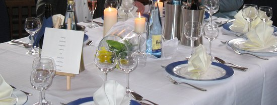 Hotel Altes Land: Table decorations