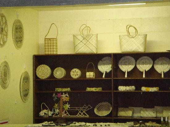 Handicrafts at the Majuro Airport