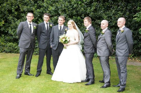The Bannatyne Hotel Darlington Bride Groom With Best Man Ushers