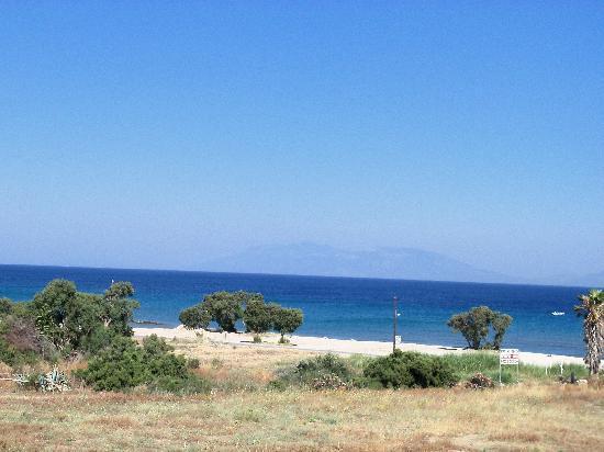 Estia Beach Hotel: La vista dal terrazzo