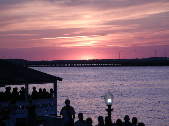 The sunset from Fager's Island Restaurant.