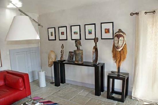 Chambres d'hotes Maxana : Salon