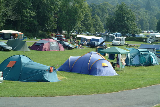 Ashburton, UK: Camping at River Dart