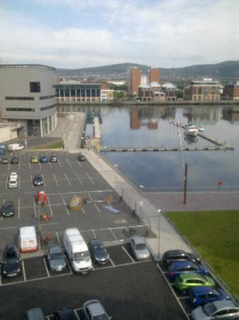 Premier Inn Belfast Titanic Quarter Hotel: View from the bedroom window