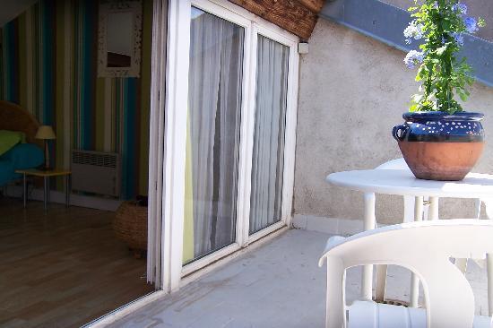 Des Toits en Ville : appartement d'hôtes LA TERRASSE