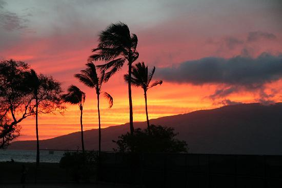Maui Schooner Resort: Sunset