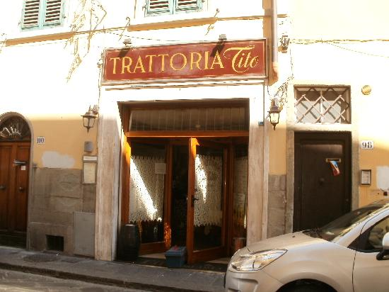 La Notte Blu: Tito's Restaurant across from the B&B..