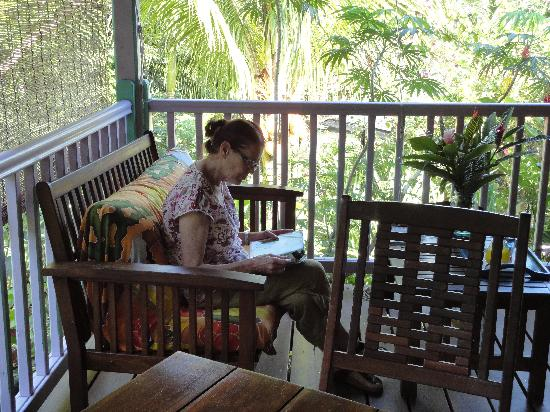 La Koumbala: La varangue du bungalow