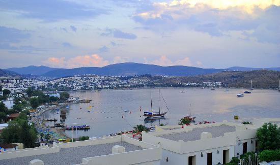 WOW Bodrum Resort: View of the bay from outside the gym