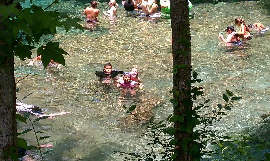 Kids in Ginnie Springs July 2011