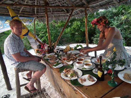 Matemwe, Tanzania: Special food aranged by hotel for midsummer