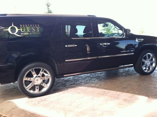 Northern Quest Resort & Casino: Cadillac escalade that shuttled us to Walmart :)
