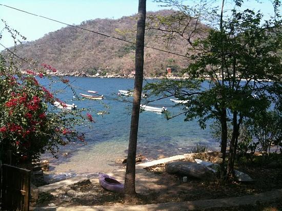 Casa Pericos: Pathway into town