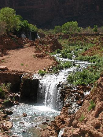 Havasupai Campground: opweg naar de cmaping