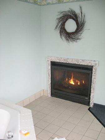 La Quinta Inn & Suites Newport : Fireplace