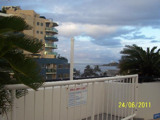 Caribbean Resort Mooloolaba: Looking out to sea from rooftop