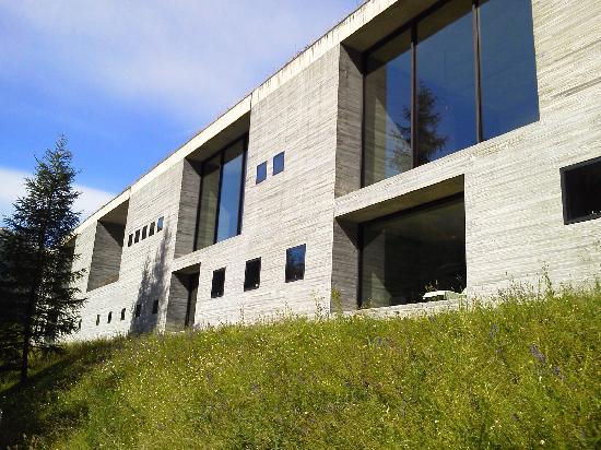 Vals, Switzerland: 温浴施設 傾斜地に埋まるように建っています