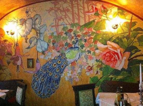 Goulash picture of rilke restaurant prague tripadvisor for Art nouveau mural
