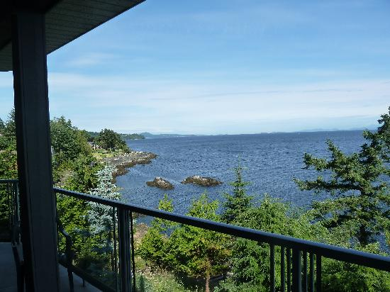 MGM Seashore Bed & Breakfast: Stunning view from the balcony of the B&B
