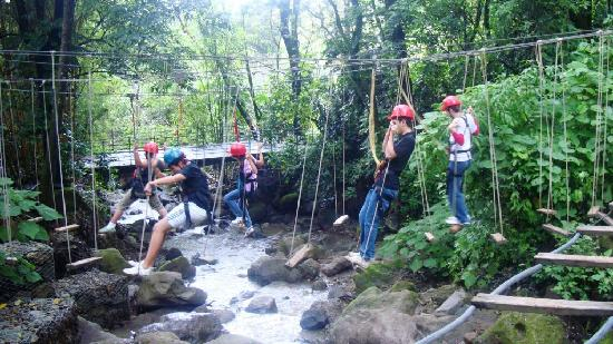 Hotel Reserva Natural Atitlán: Challenges at the end of the canopy line