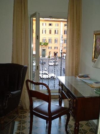 Casa di Santa Brigida: View from sitting room to P. Farnese