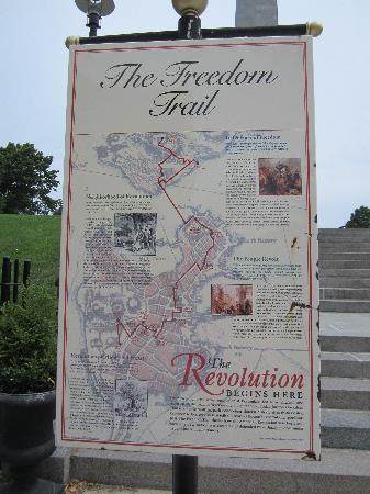 Map of Freedom Trail