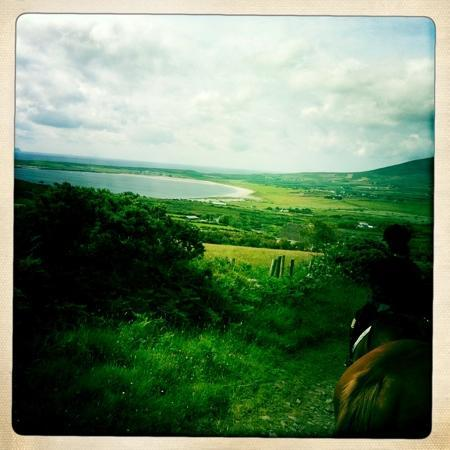 Dingle Horse Riding : beautiful view after the canter track, full day ride