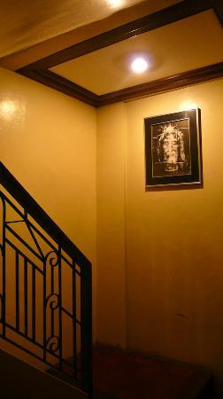 Malate Pensionne: Framed Shroud of Turin at the staircase ;)
