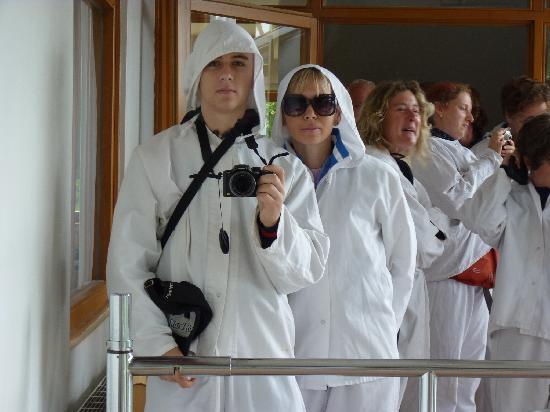 Salt Mine Hallein: coveralls for visitors