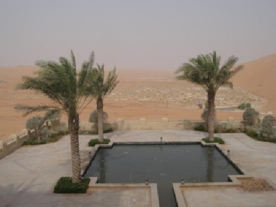 Qasr Al Sarab Desert Resort by Anantara: One of the water features