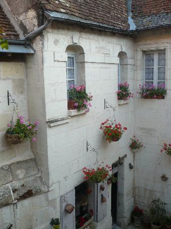 Hotel de Beaulieu : Vue du patio de notre chambre