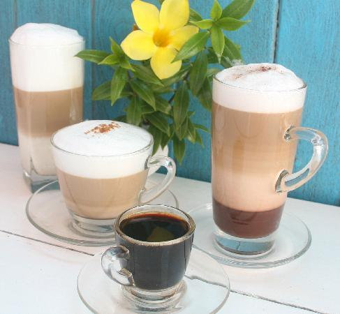 Drunken Sailors: We offer fresh ground coffee and espresso drinks.