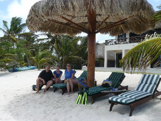 Casa Caracola : Relaxing after snorkeling
