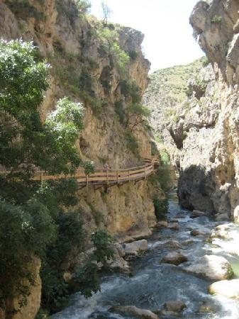 Castril De La Pena, Spanyol: gorgeous path along the river