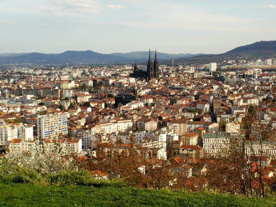 Clermont-Ferrand, Frankrig: Vista desde lo alto