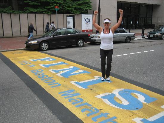 RunBoston Running Tours: Crossing the Boston Marathon Finish Line!