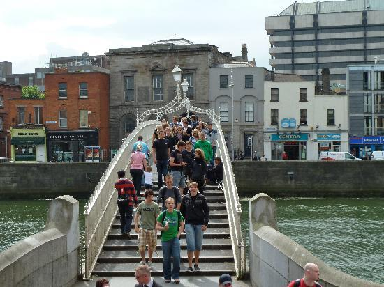 The Clarence: Ha'Penny Bridge just down Quay