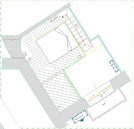 """Casa Pariolina: planimetria piano superiore suite """"Il giardino"""""""